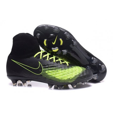 Nike Magista Obra 2 FG Men's Football Shoes Black Yellow