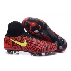 Nike Magista Obra 2 FG Men's Football Shoes Red Black Yellow