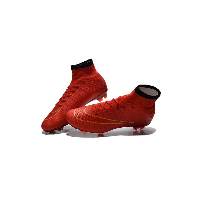 05e515387 New Nike Mercurial Superfly CR7 FG Firm Ground Cleats Red Gold