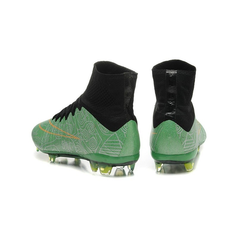 online store afe90 e01a2 ... ebay new nike mercurial superfly cr7 fg firm ground cleats green black  6f5d8 b9250