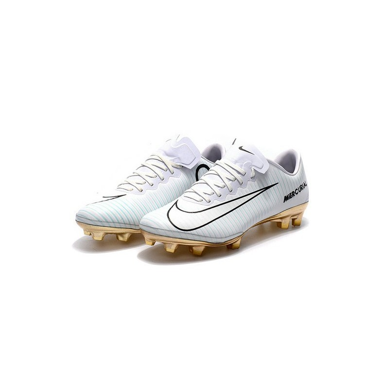 fbfe5326de0 Nike Mercurial Vapor Vitórias 11 CR7 FG Firm Ground Soccer Shoes White Gold  Maximize. Previous. Next