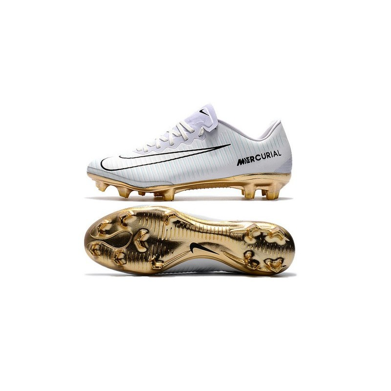 b84deb567 Nike Mercurial Vapor Vitórias 11 CR7 FG Firm Ground Soccer Shoes White Gold  Maximize. Previous. Next