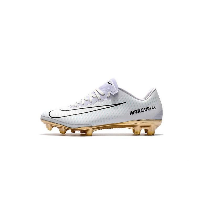 d4e3a80bbc07 Nike Mercurial Vapor Vitórias 11 CR7 FG Firm Ground Soccer Shoes White Gold  Maximize. Previous. Next