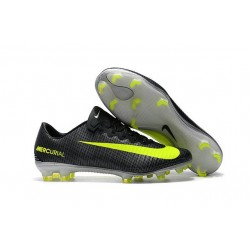 New 2017 Nike Mercurial Vapor XI CR7 ACC FG Soccer Boot Black Yellow