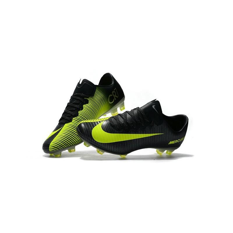 60816655c18e New 2017 Nike Mercurial Vapor XI CR7 ACC FG Soccer Boot Black Yellow