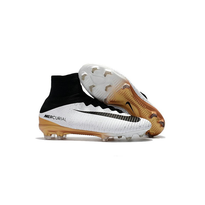 cheap for discount 90bf7 f8084 News Nike Mercurial Superfly V FG Boots White Gold Black