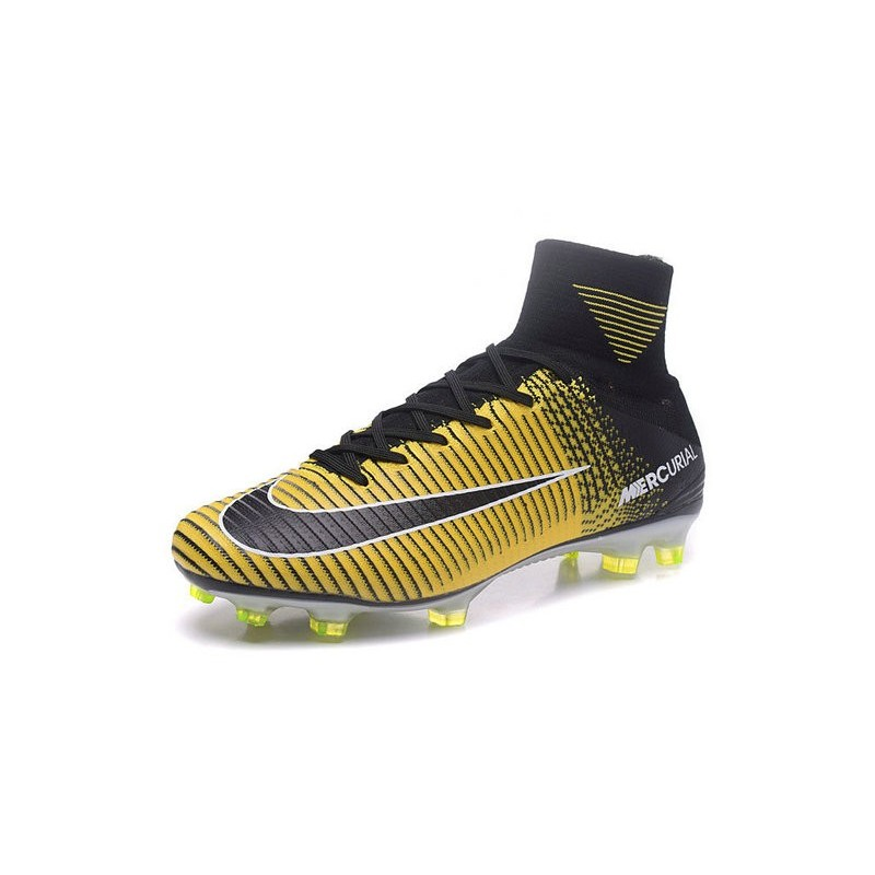 237b4010ab3 News Nike Mercurial Superfly V FG Soccer Boots Yellow Black Maximize.  Previous. Next