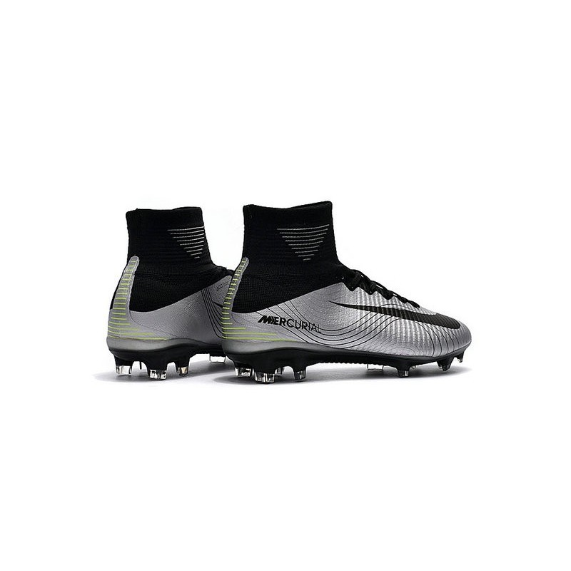 News Nike Mercurial Superfly V FG Soccerl Boots Silver Black Maximize.  Previous. Next