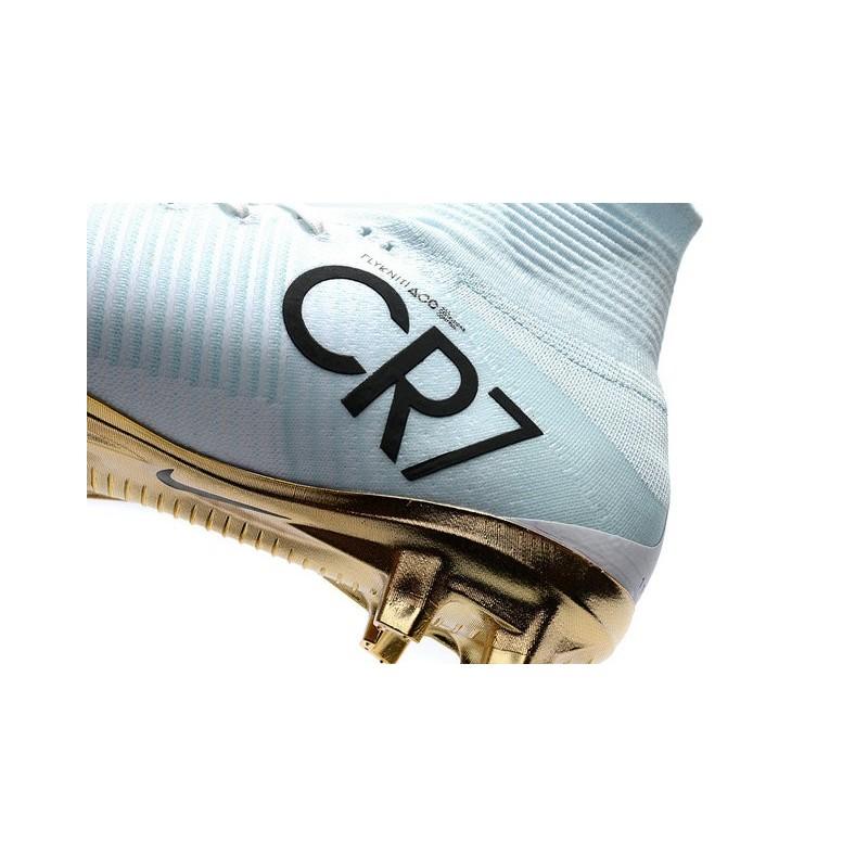 6a57e86c32a ... greece nike mercurial superfly v cr7 vitórias fg top soccer shoes white  golden cb12a f205c