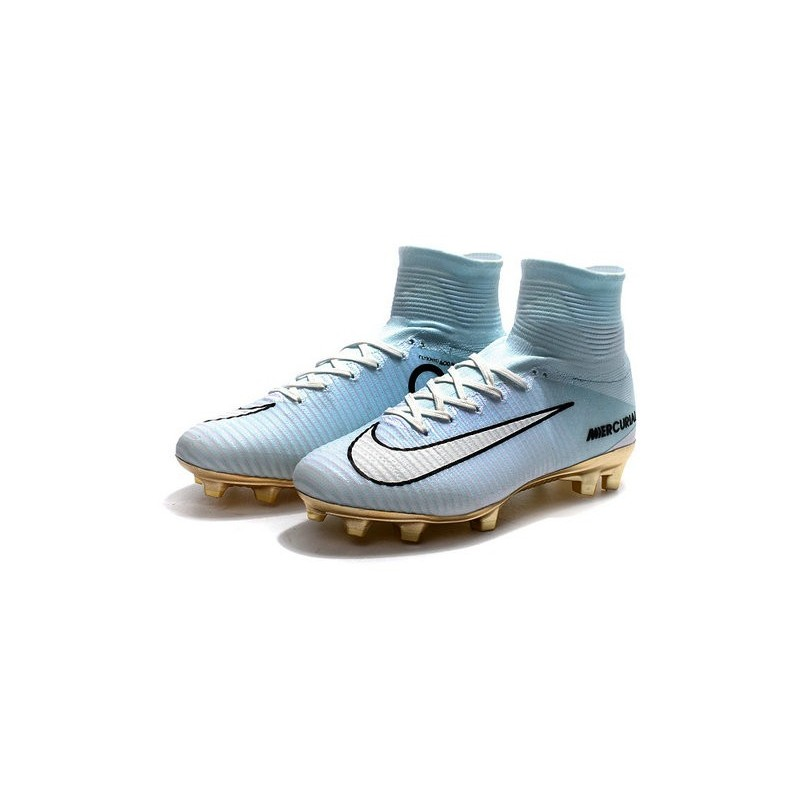 f47ba142949 Nike Mercurial Superfly V CR7 Vitórias FG Top Soccer Shoes White Golden  Maximize. Previous. Next