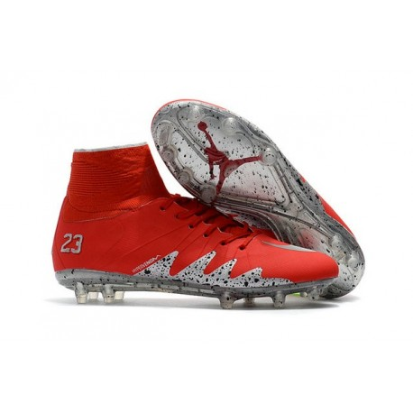 new product 298a0 0f1fb Nike Hypervenom Phantom 2 FG New Neymar X Jordan Red Silver