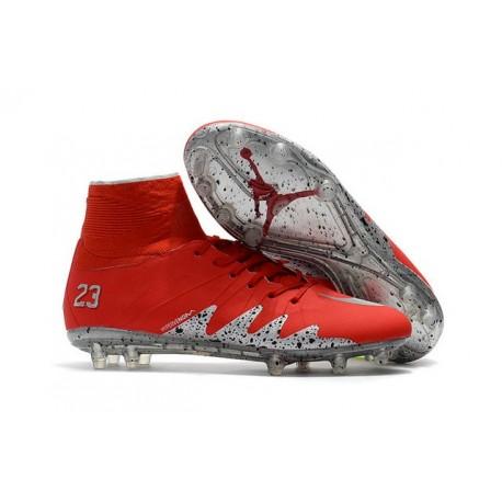 Nike Hypervenom Phantom 2 FG New Neymar X Jordan Red Silver