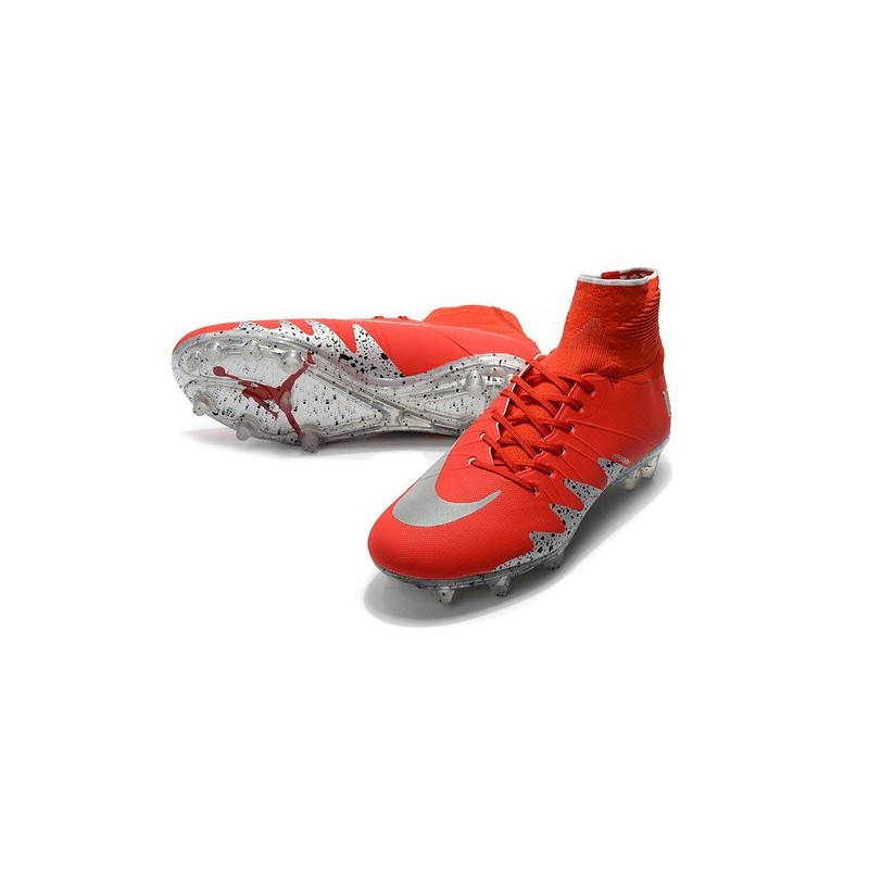 new product bea63 57b02 Nike Hypervenom Phantom 2 FG New Neymar X Jordan Red Silver