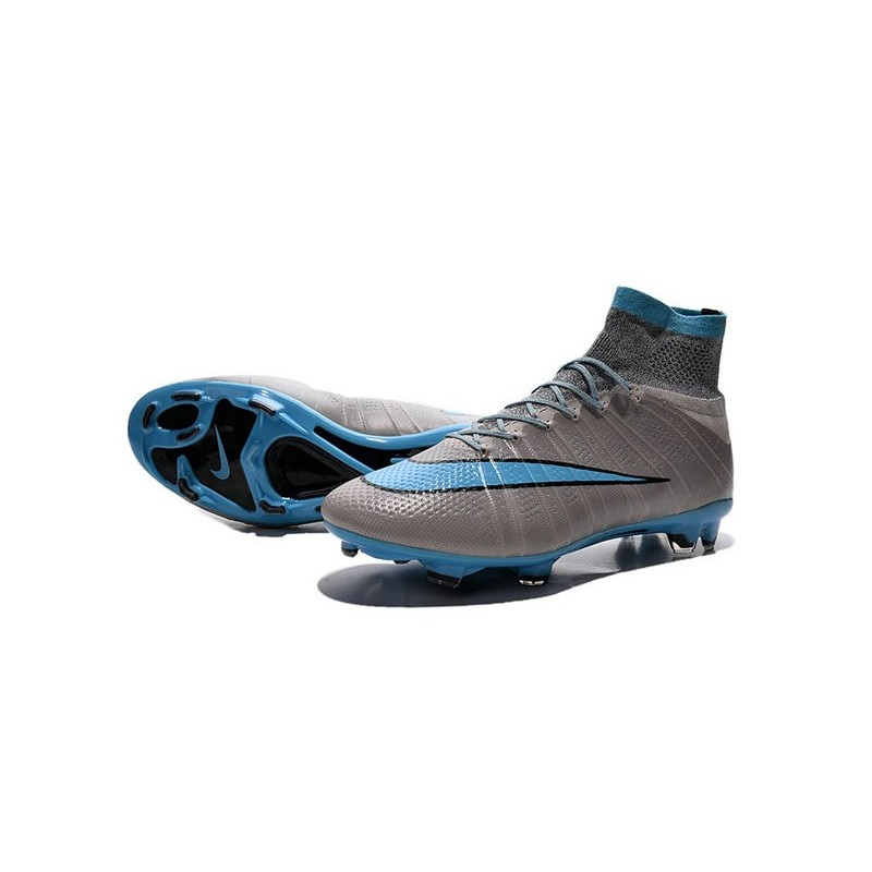 cdebc0a915a65 New Nike Mercurial Superfly CR7 FG Firm Ground Cleats Grey Blue