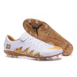 Nike Hypervenom Phinish FG Neymar X Jordan NJR White Golden Cleats