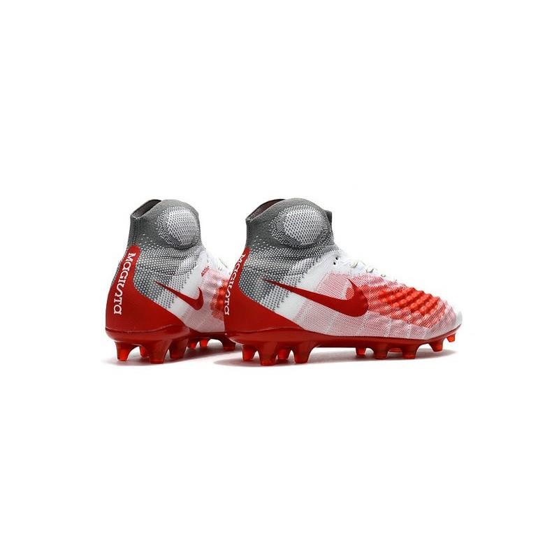 revendeur 306d1 88a0f Nike Magista Obra II FG News 2017 Soccer Boot White Red