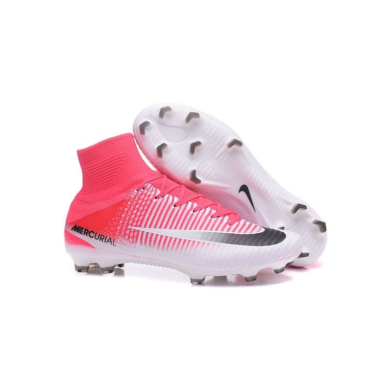 ea618568330 Nike Mercurial Superfly V FG Top Soccer Shoes Pink White Black