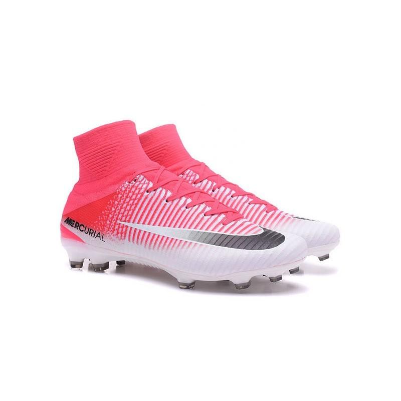 ed9469ce2e1 Nike Mercurial Superfly V FG Top Soccer Shoes Pink White Black Maximize.  Previous. Next