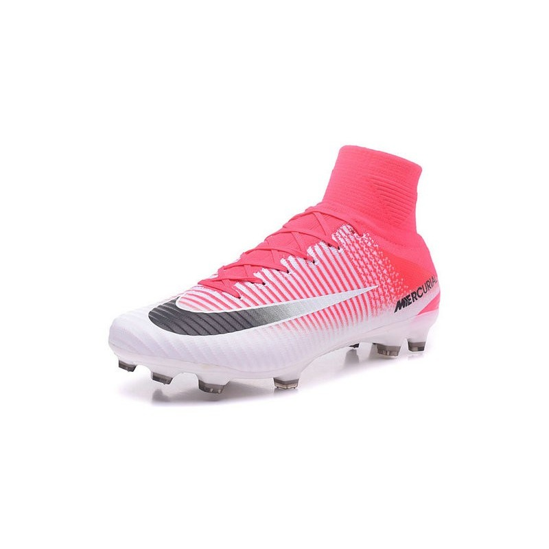 new concept 56860 80436 Nike Mercurial Superfly V FG Top Soccer Shoes Pink White Black