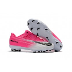 New 2017 Nike Mercurial Vapor XI ACC FG Soccer Boot Pink White Black