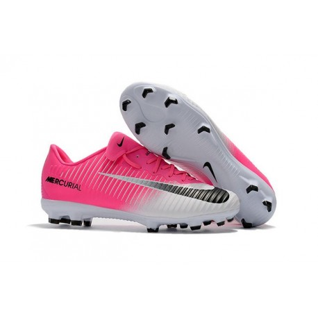 New 2017 Nike Mercurial Vapor XI ACC FG Soccer Boot Pink White Black