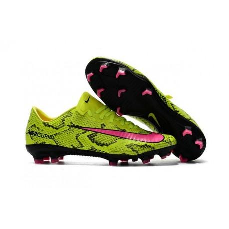 New 2017 Nike Mercurial Vapor XI ACC FG Soccer Boot Yellow Pink
