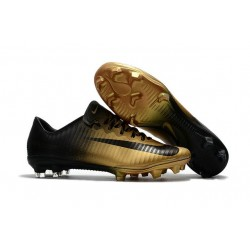 New 2017 Nike Mercurial Vapor XI ACC FG Soccer Boot Gold Black