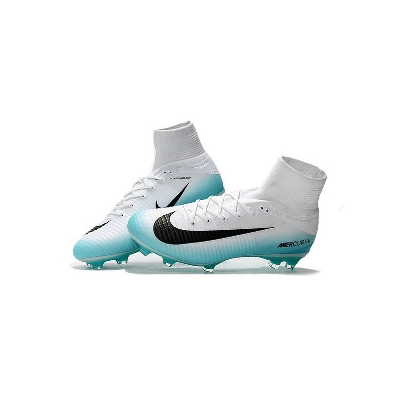 new product 56463 60d05 Nike Mercurial Superfly V FG Top Soccer Shoes White Blue Black Maximize.  Previous. Next