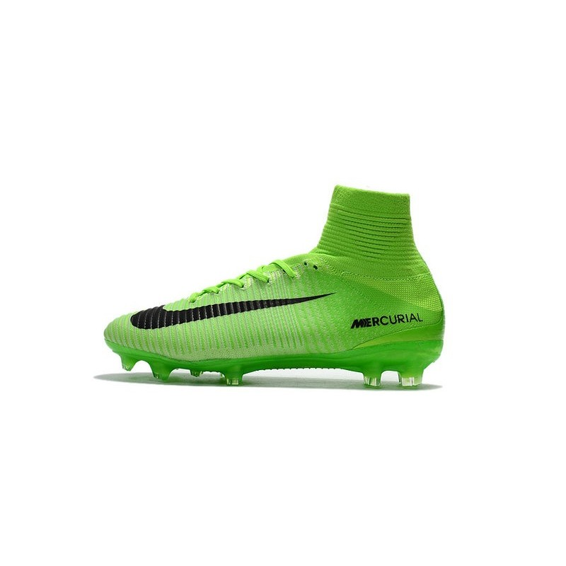 new style d38f8 9ab97 Nike Mercurial Superfly V FG Top Soccer Shoes Green Black Maximize.  Previous. Next