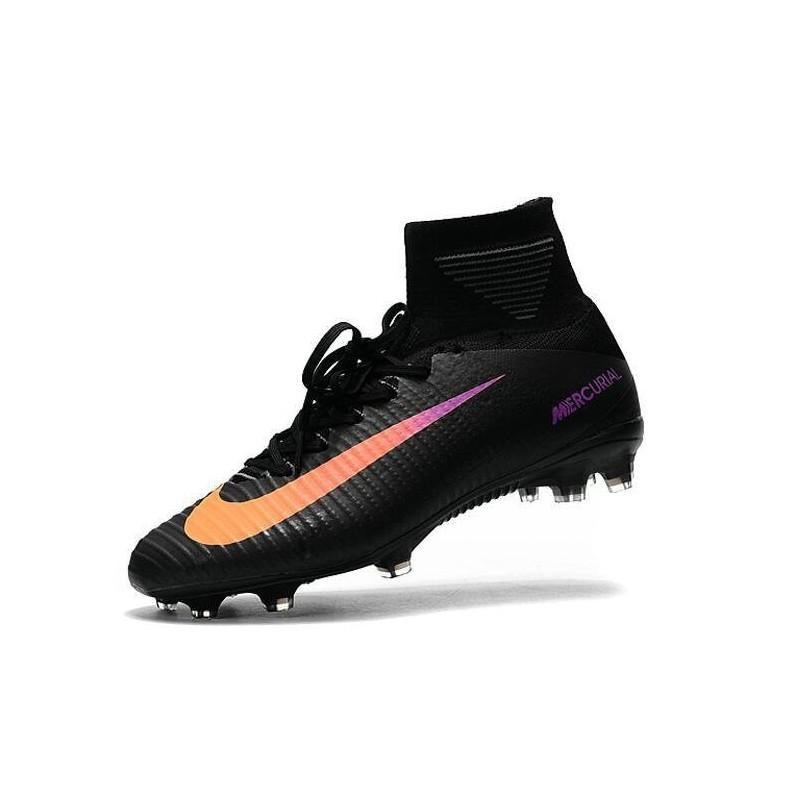 3c4eac0b0b9 Nike Mercurial Superfly V FG Top Soccer Shoes Black Orange Maximize.  Previous. Next