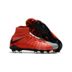 News Nike Hypervenom Phantom 3 DF FG Boots - Red Grey Black