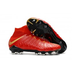 News Nike Hypervenom Phantom 3 DF FG Boots Red Gold
