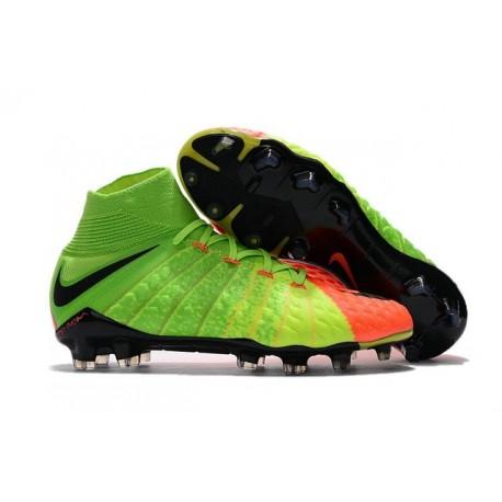 News Nike Hypervenom Phantom 3 DF FG Boots Electric Green Orange Black