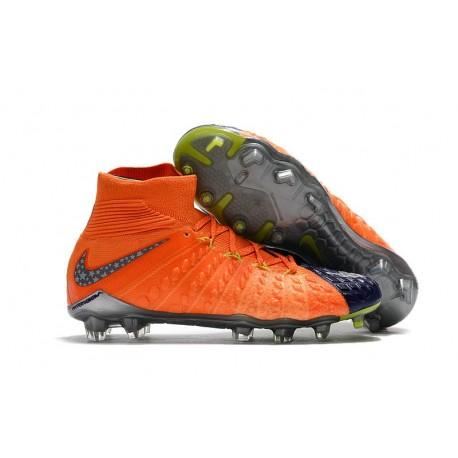 News Nike Hypervenom Phantom 3 DF FG Boots Blue Orange