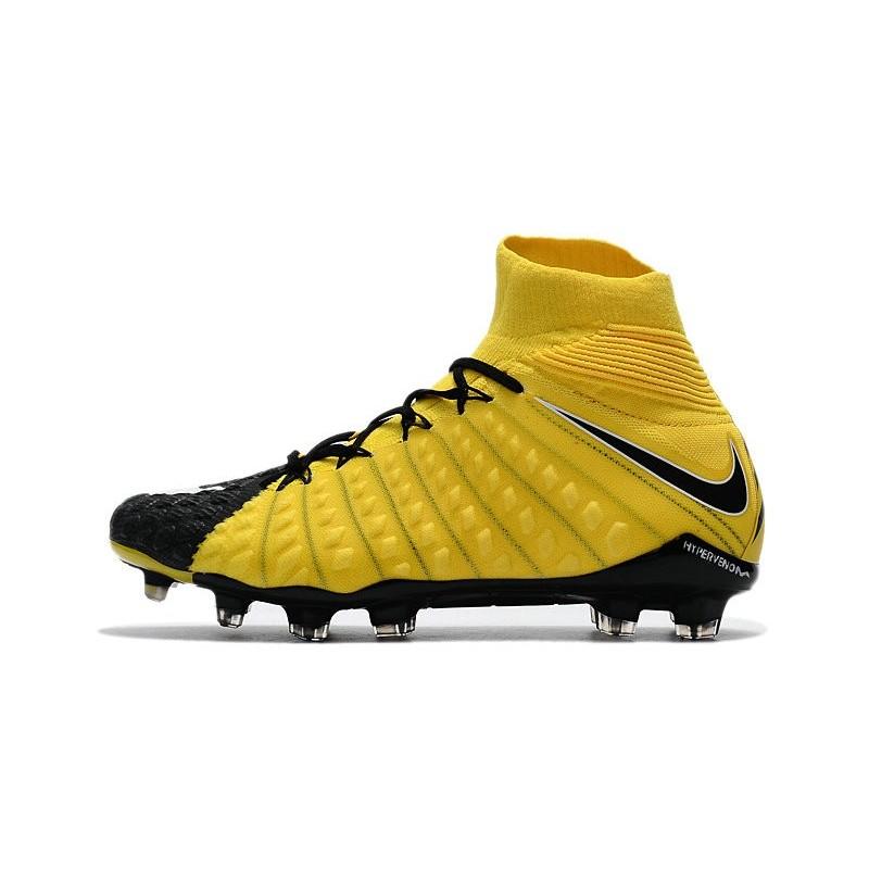 half off c592f d59d3 News Nike Hypervenom Phantom 3 DF FG Boots Yellow Black