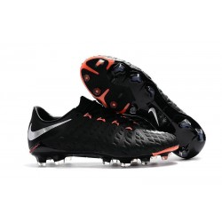 Nike Hypervenom Phantom 3 FG Low Cut Soccer Cleat Black Orange Silver