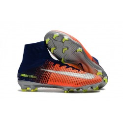 Nike Mercurial Superfly 5 FG 2017 New Firm Ground Boot - Royal Blue Chrome Crimson