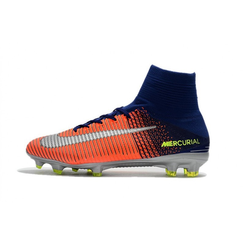 43dd93d7c15d Nike Mercurial Superfly 5 FG 2017 New Firm Ground Boot - Royal Blue Chrome  Crimson Maximize. Previous. Next