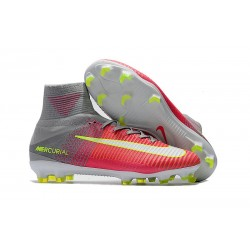 Nike Mercurial Superfly 5 FG 2017 New Firm Ground Boot - Pink Gray White