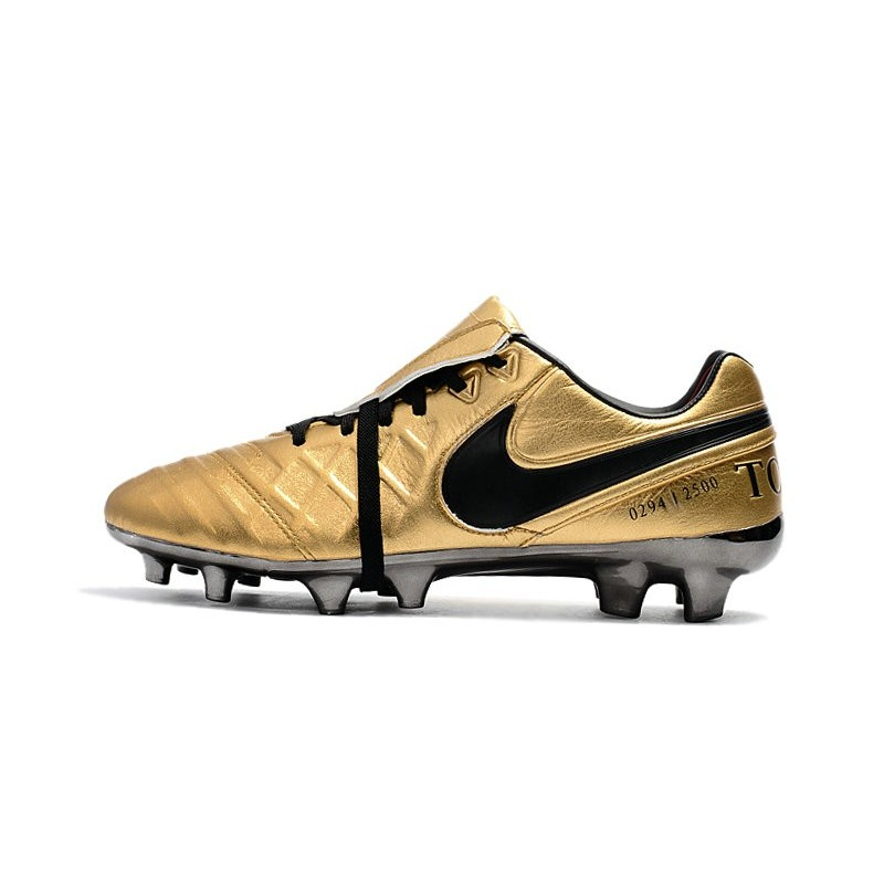cheap for discount 142cf 17990 Nike Tiempo Totti X Roma Limited Edition Gold Soccer Cleats