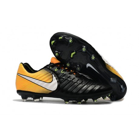 2f7358d77 Nike Tiempo Legend VII FG K-Leather Soccer Cleats Black Yellow White