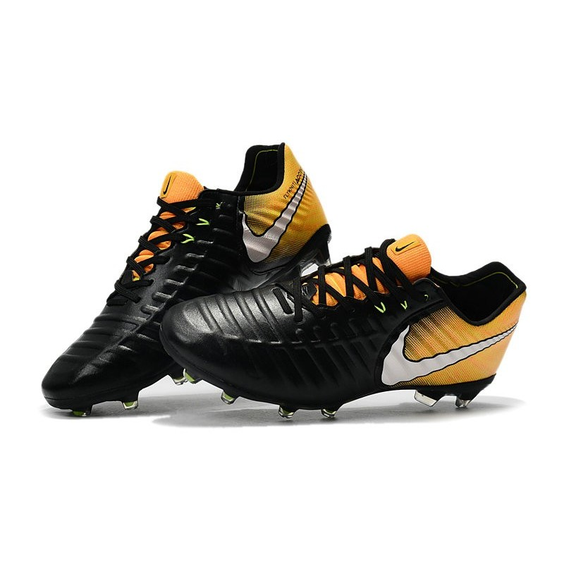 7a9d91aa9 Nike Tiempo Legend VII FG K-Leather Soccer Cleats Black Yellow White  Maximize. Previous. Next