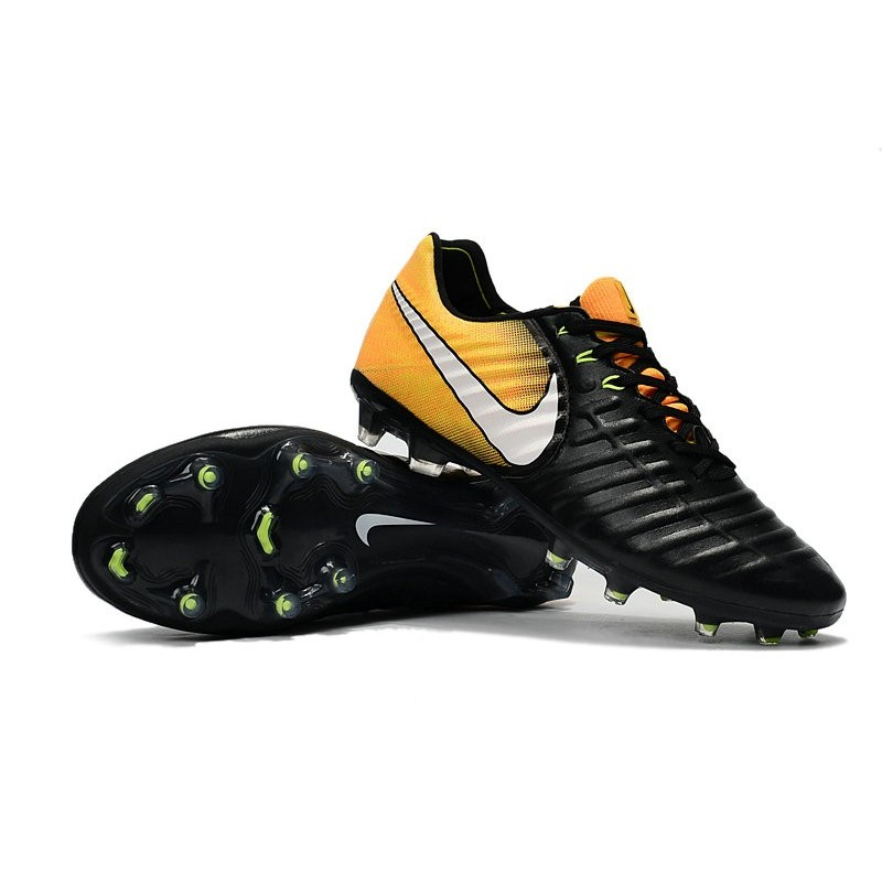 more photos 7dca6 80f2c Nike Tiempo Legend VII FG K-Leather Soccer Cleats Black ...