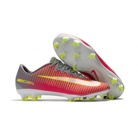 Mens Nike Mercurial Vapor 11 FG Football Shoes - Pink Gray