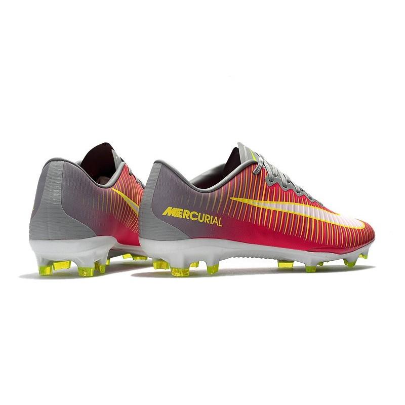 online store 77f7e fe99e Mens Nike Mercurial Vapor 11 FG Football Shoes - Pink Gray
