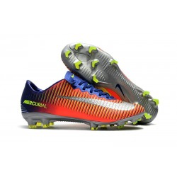 Mens Nike Mercurial Vapor 11 FG Football Shoes - Royal Blue Chrome Crimson