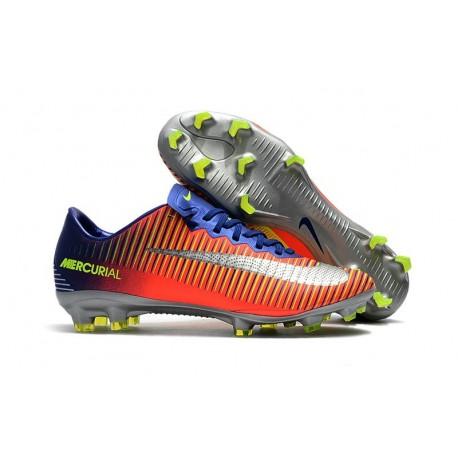 6bce8530616b Mens Nike Mercurial Vapor 11 FG Football Shoes - Royal Blue Chrome Crimson