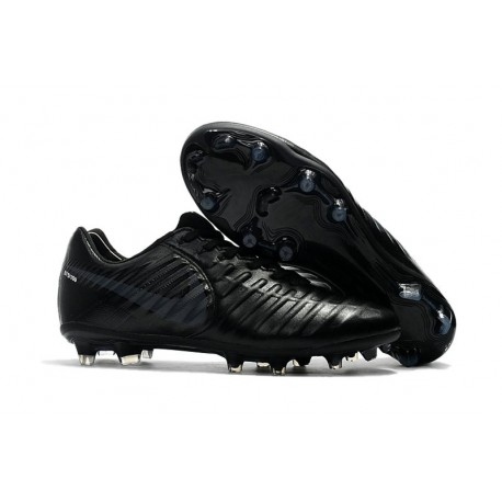 new style ee8a8 55174 Nike Tiempo Legend VII FG K-Leather Soccer Cleats All Black