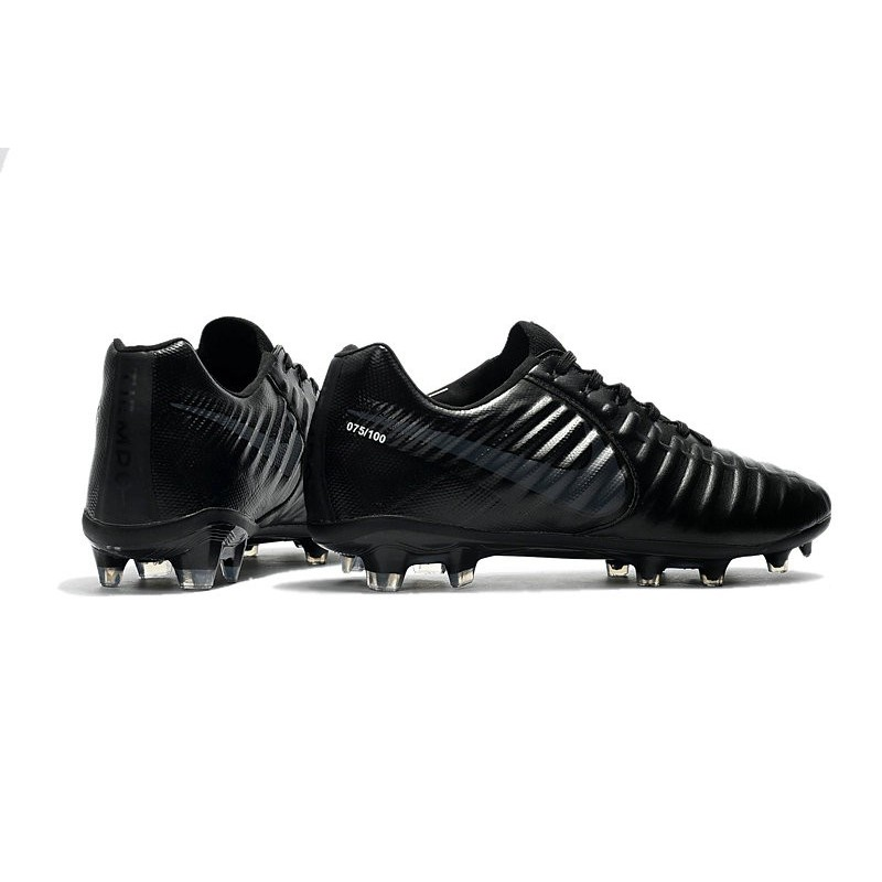 15b8b20ad Nike Tiempo Legend VII FG K-Leather Soccer Cleats All Black Maximize.  Previous. Next