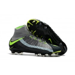 Nike Hypervenom Phantom III DF FG ACC 2017 Cleats - Grey Black Green